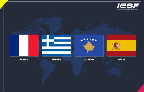 צרפת, ספרד, קוסובו ויוון מצטרפות ל- IESF